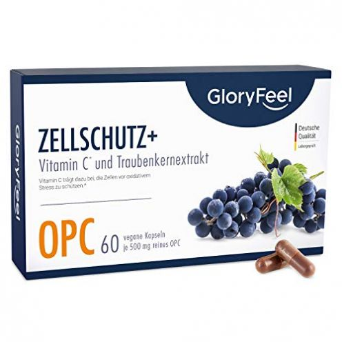 GloryFeel Zellschutz OPC Traubenkernextrakt plus Vitamin C Kapseln
