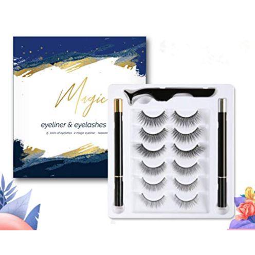 N/C Magnetische Wimpern mit Eyeliner