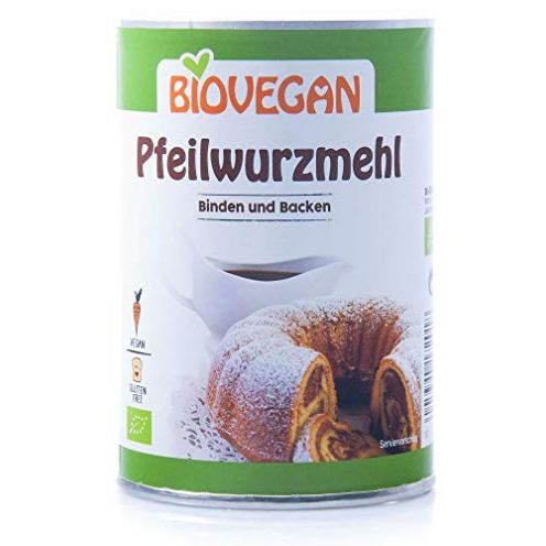 BIOVEGAN Bio Pfeilwurzmehl BindeFix Backen Bio
