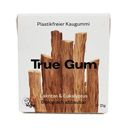 True Gum Lakritze & Eukalyptus | Plastikfreier Kaugummi