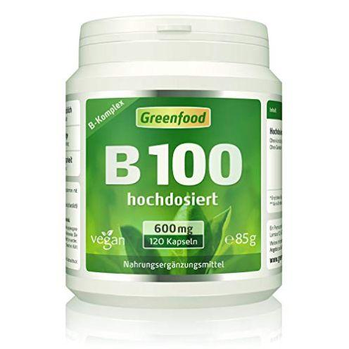 Greenfood B-Komplex Vitamin B 100 Kapseln