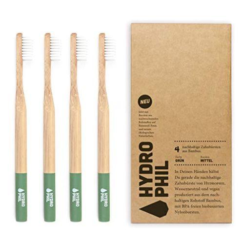Hydrophil Zahnbürsten Set aus Bambus