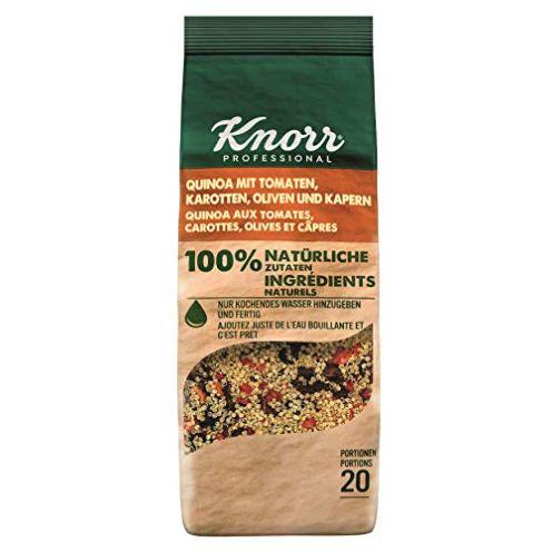 Knorr Quinoa mit Tomate, Karotten, Oliven und Kapern