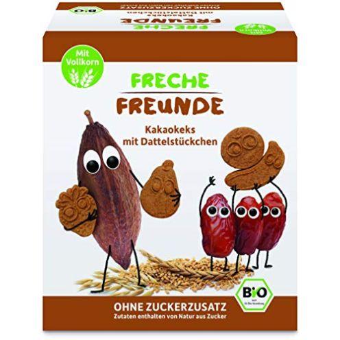 Freche Freunde Bio Kakaokekse mit Dattelstückchen