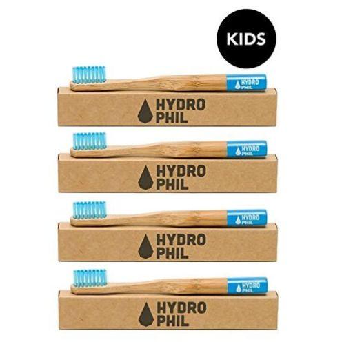 Hydrophil Kinder-Zahnbürsten Set Blau