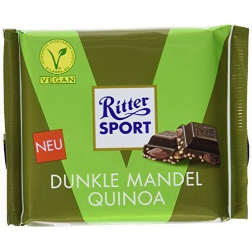 RITTER SPORT Dunkle Mandel Quinoa Schokolade