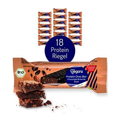 Veganz BIO Protein Choc Bar Chocolate Brownie Style