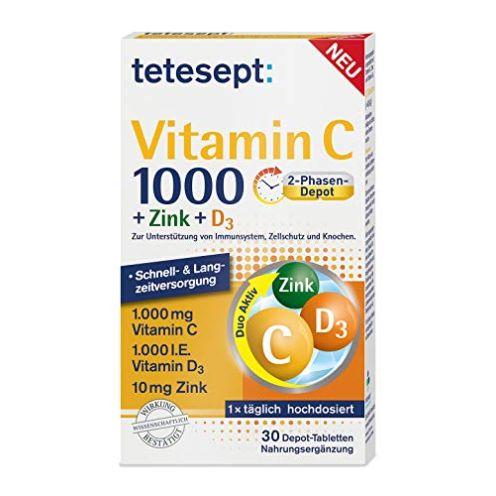 tetesept Vitamin C 1000 + Zink + D3 Nahrungsergänzungsmittel