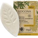 LOGONA Naturkosmetik Bio-Hanf & Bio-Holunder Shampoo Bar