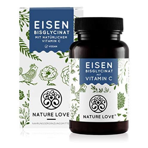 Nature Love Eisen mit 40mg natürlichem Vitamin C