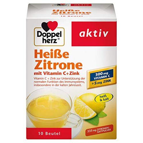 Doppelherz Heiße Zitrone mit Vitamin C und Zink
