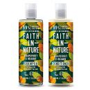 Faith in Nature Shampoo und Conditioner Set Orange und Grapefruit