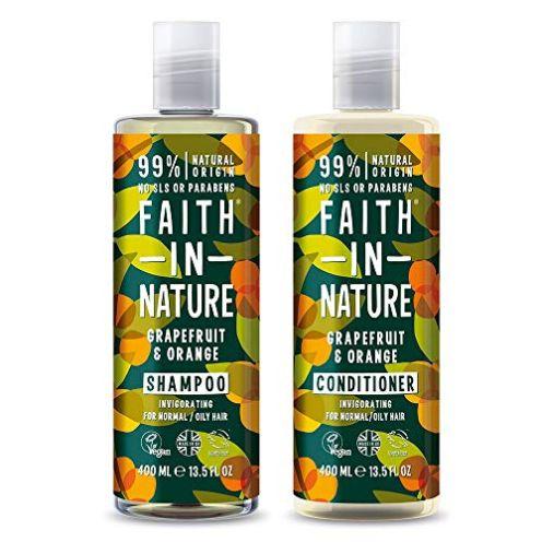 Faith in Nature Shampoo und Conditioner Set Orange und Grapefruit