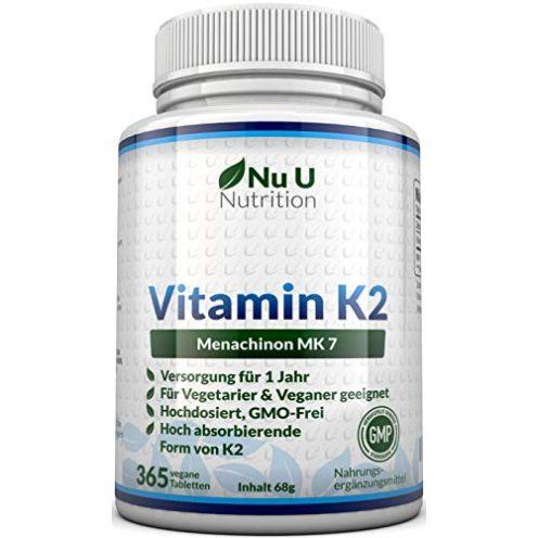 Nu U Nutrition Vitamin K2 MK7 200 µg | 365