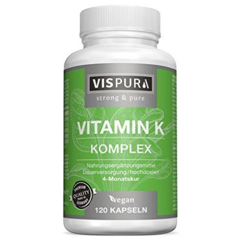 Vispura Vitamin K Komplex hochdosiert & vegan